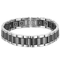 ステンレス鋼の大きい幅の黒い陶磁器の人のブレスレットの鎖のためのOideaのブレスレット