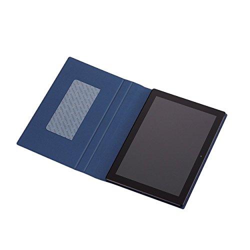 『【2015年モデル】ELECOM SONY Xperia Z4 Tablet フラップケース イタリアンソフトレザー素材レザー キーボード同時収納対応 ブルー TBM-SOZ4AWDTKBU』の1枚目の画像