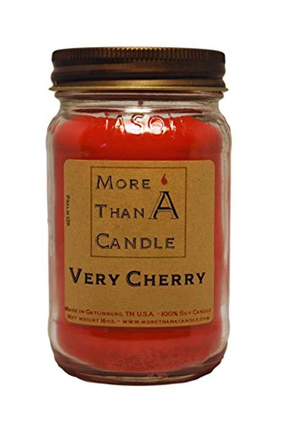 覗く交渉する人間More Than A Candle VCY16M 16 oz Mason Jar Soy Candle, Very Cherry