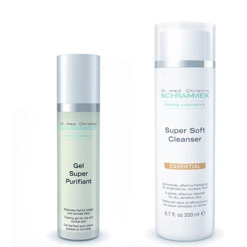ベーコン隔離する思慮のないシュラメック 「GREEN PEEL 洗顔2点セット(ノーマル肌?敏感肌?乾燥肌用)」 スーパーソフトクレンザー&ジェルスーパーピュリフィアント