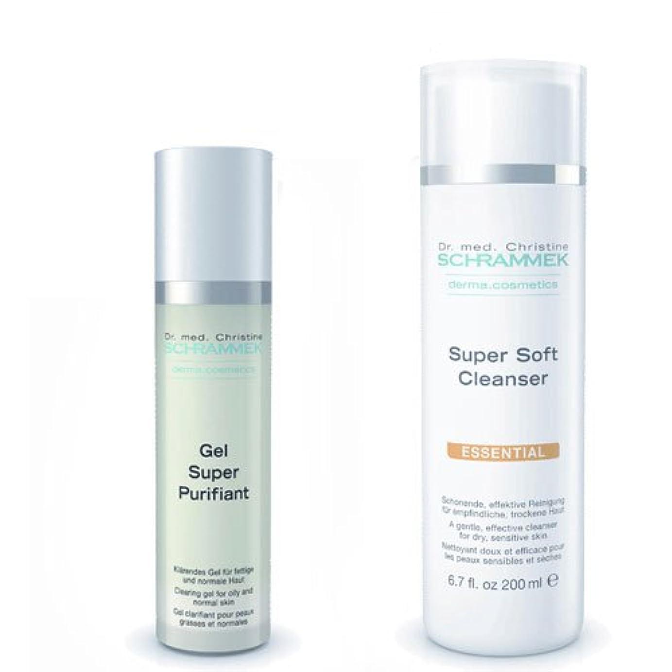 シュラメック 「GREEN PEEL 洗顔2点セット(ノーマル肌?敏感肌?乾燥肌用)」 スーパーソフトクレンザー&ジェルスーパーピュリフィアント