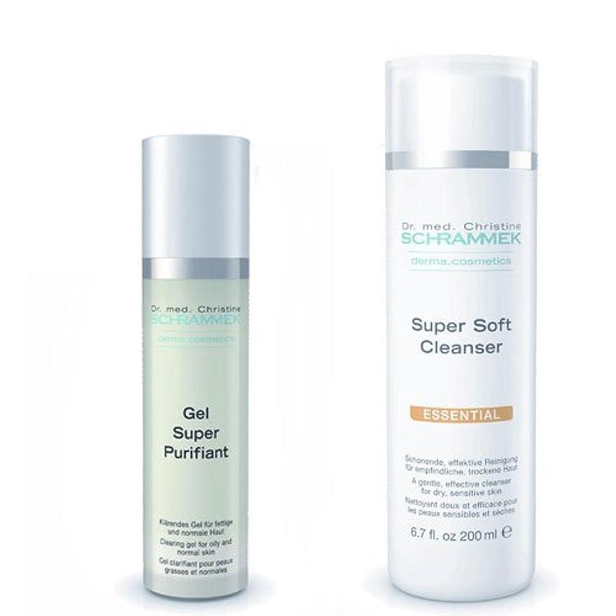 モンゴメリー急勾配の故意にシュラメック 「GREEN PEEL 洗顔2点セット(ノーマル肌?敏感肌?乾燥肌用)」 スーパーソフトクレンザー&ジェルスーパーピュリフィアント