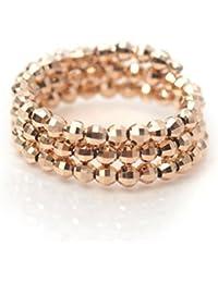 18金 リング K18PG ピンクゴールド 形状記憶 K18 指輪 フリーサイズ ミラーボール コイルリング