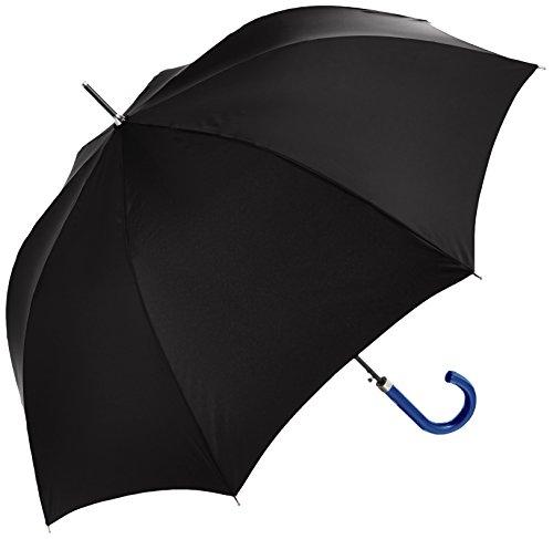(ランバン オン ブルー)LANVIN en Bleu 紳士 長傘 無地 耐風傘 21-084-07150-16 15-65 ブラック 親骨の長さ 65cm