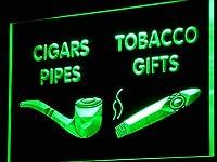 ADVPRO cigars Pipes Tobacco Gifts Shop LED看板 ネオンプレート サイン 標識 Green 400 x 300mm st4s43-i732-g