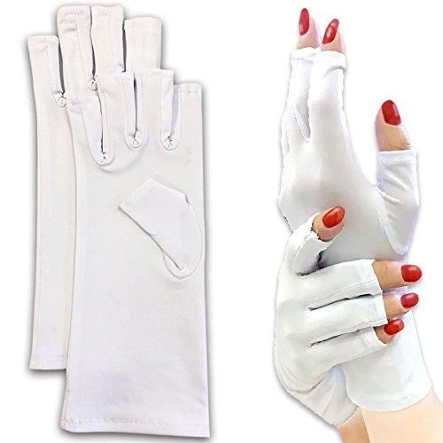 kerata ジェルネイル用 UVカット手袋 UVライトの紫外線からお肌を守る 指なしグローブ...