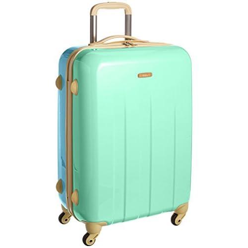 addy パステルツートンカラー スーツケース 「ビスケット」ファスナー式 4輪大型 Lサイズ 61L(5~6泊用) 南京錠付き ミント×アクア
