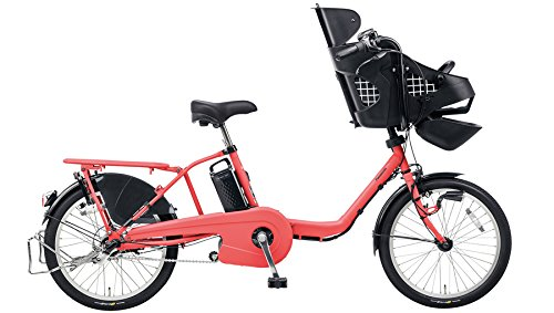 Panasonic(パナソニック) 2017年モデル ギュット・ミニ・DX カラー:コーラルピンク 20インチ BE-ELMD033-M2 子供乗せ付き電動アシスト自転車 専用充電器付