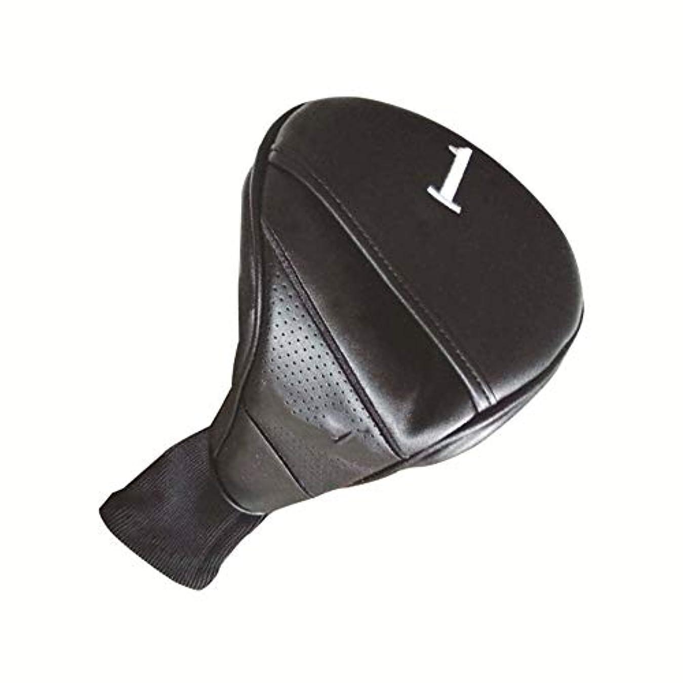 うまくいけば死にかけている日ゴルフクラブカバー ゴルフパターカバーブラックゴルフクラブプロテクター防水PUレザー素材ゴルフパターヘッドカバーユニバーサルスタンダードサイズストレートストリップ (色 : ブラック, サイズ : Free)