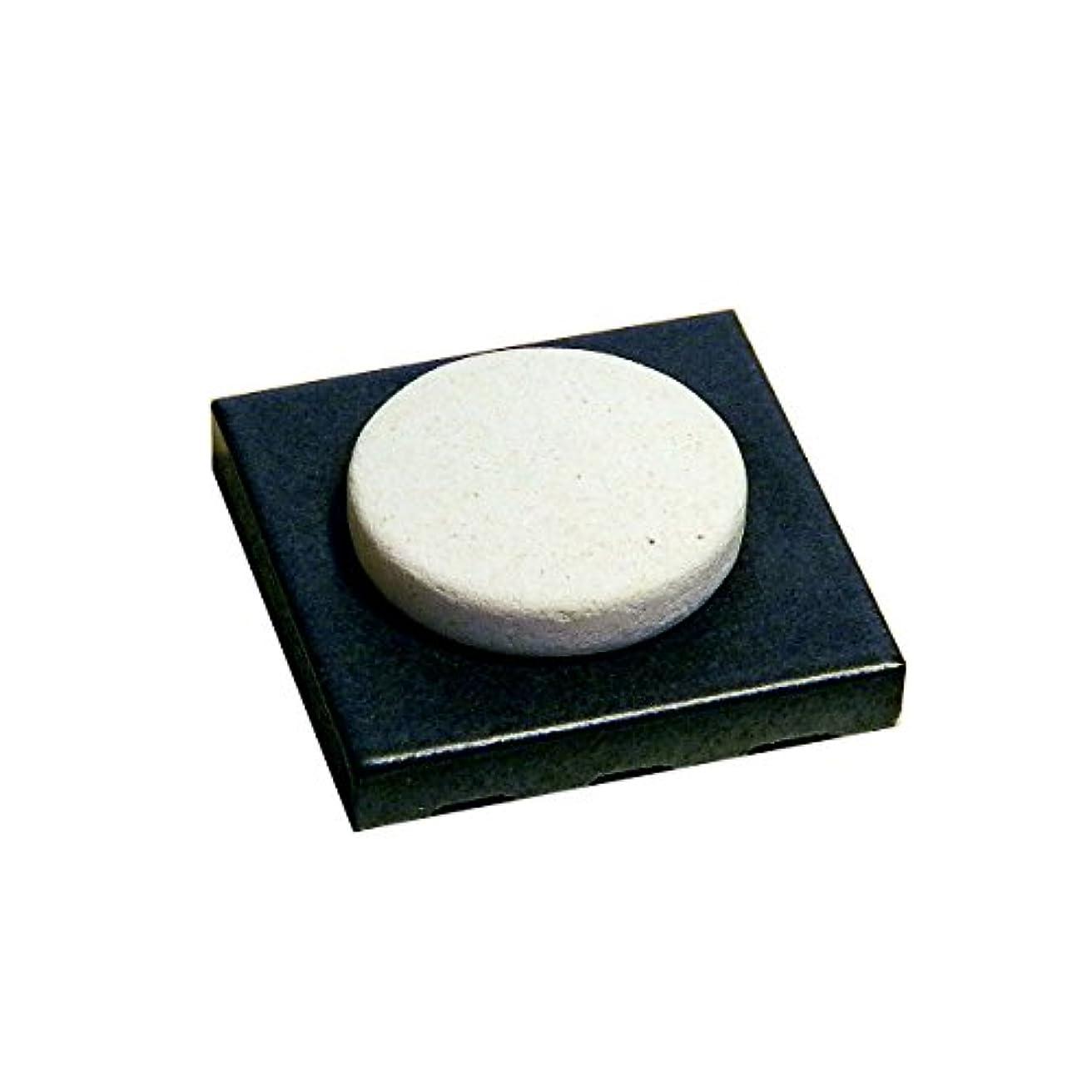 ジョブ手がかり問い合わせる〔立風屋〕珪藻土アロマプレート美濃焼タイルセット ブラック(黒) RPAP-01003-BK