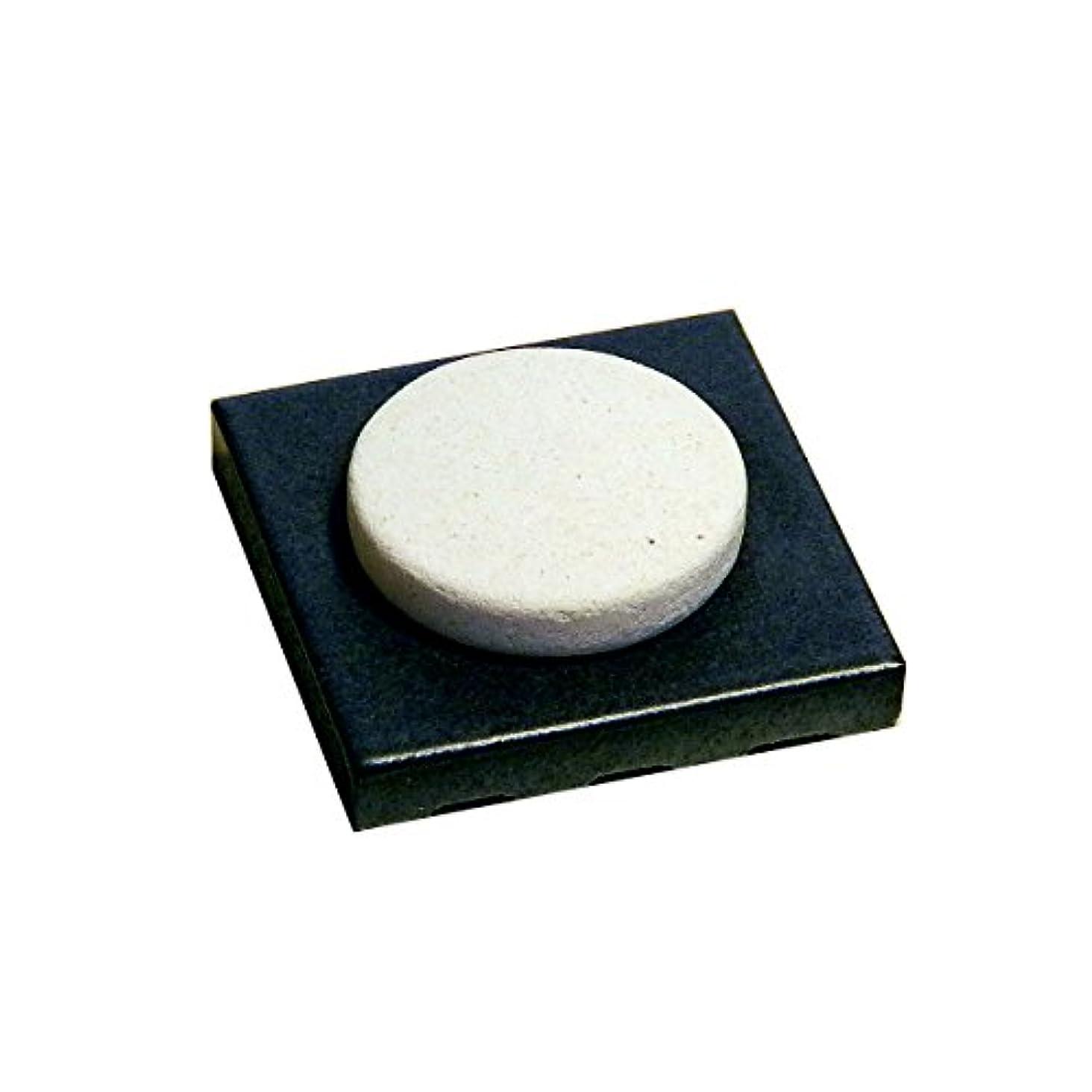 見出し腸読書をする〔立風屋〕珪藻土アロマプレート美濃焼タイルセット ブラック(黒) RPAP-01003-BK