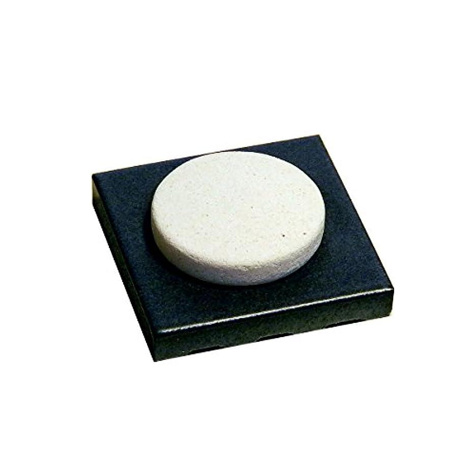 パシフィック製油所バイアス〔立風屋〕珪藻土アロマプレート美濃焼タイルセット ブラック(黒) RPAP-01003-BK