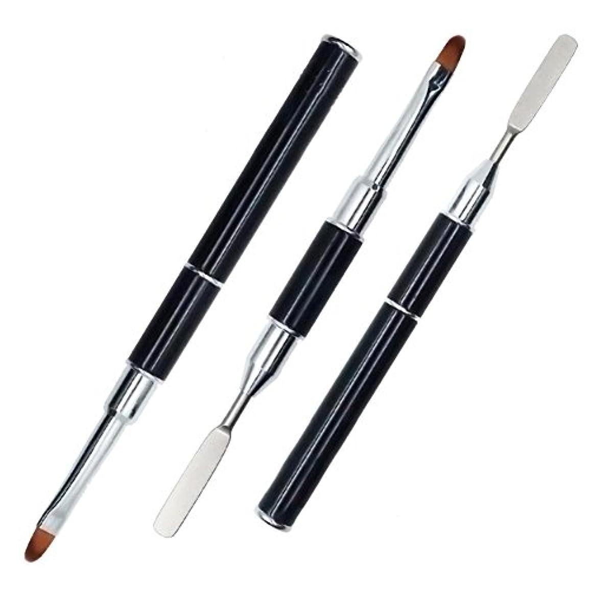 目指すアクセサリー工夫するYeabay UV PolyGel Poly Gel Nail Brush Dual-ended Slice Shape Nail Art Tool