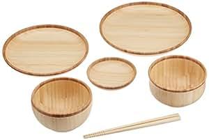 agney* お食い初め 6点セット 国産 天然竹製 食洗機対応 モダンタイプ