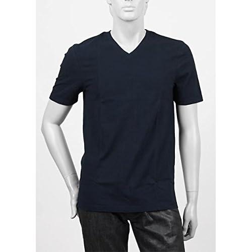 (スリードッツ) three dots VネックTシャツ Mサイズ DEEP OCEAN ブルー系 [並行輸入品]