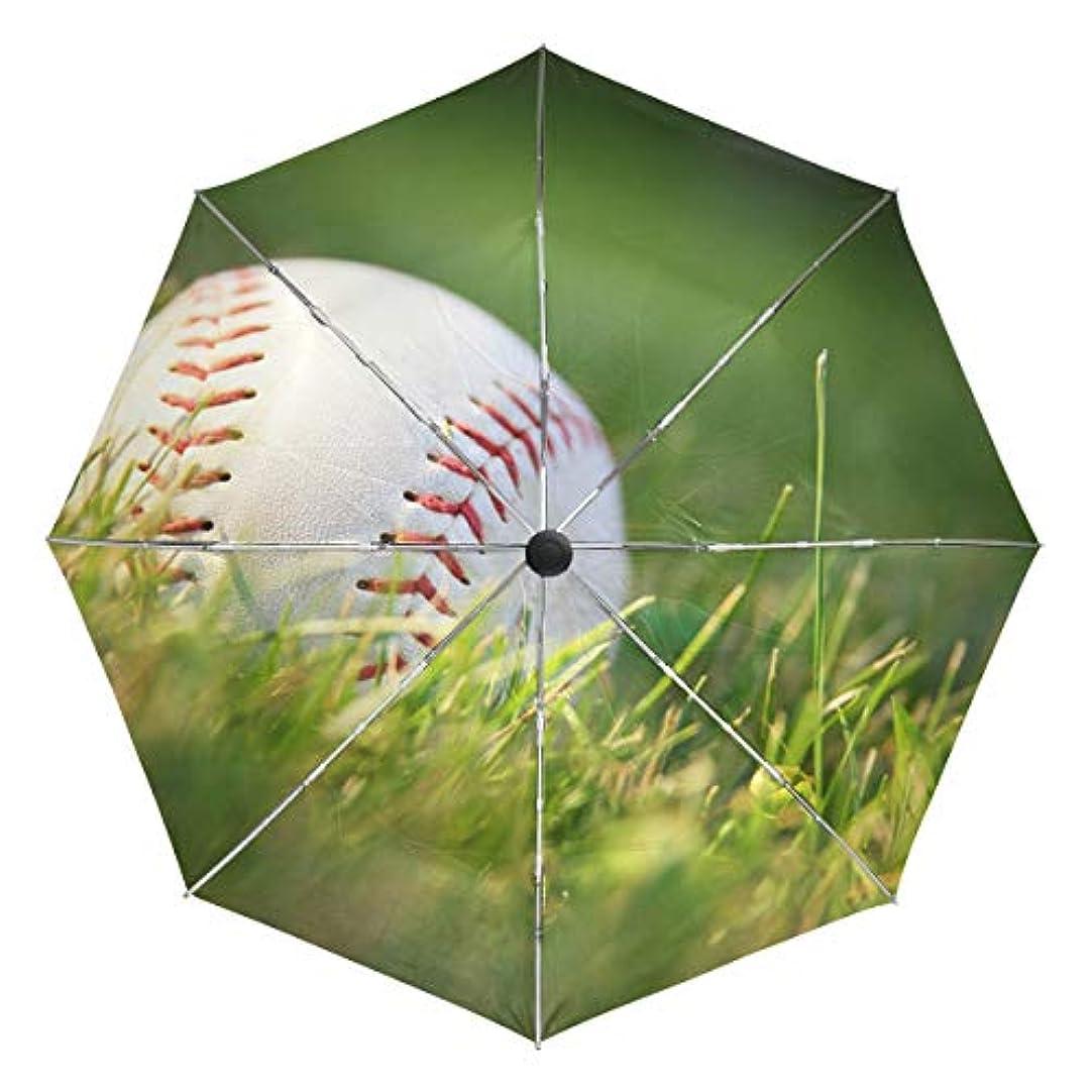 しわインサートりUOOYA 折りたたみ傘 野球 スポーツ ワンタッチ自動開閉 軽量 コンパクト 日傘 おしゃれ 耐風 撥水 遮光遮熱 UVカット 晴雨兼用 収納ポーチ付き