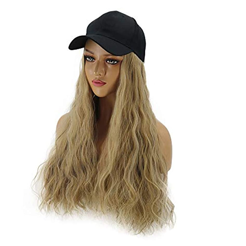 羊の服を着た狼解き明かす壁紙HAILAN HOME-かつら ファッション女性ウィッグハットワンピース帽子ウィッグコーン型パーマミックスアンバー/ブラウン簡単ワンピース取り外し可能