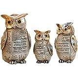 Jhcpca フクロウの装飾インテリアデスクトップの装飾動物の樹脂の工芸品の装飾の贈り物 (サイズ : M)