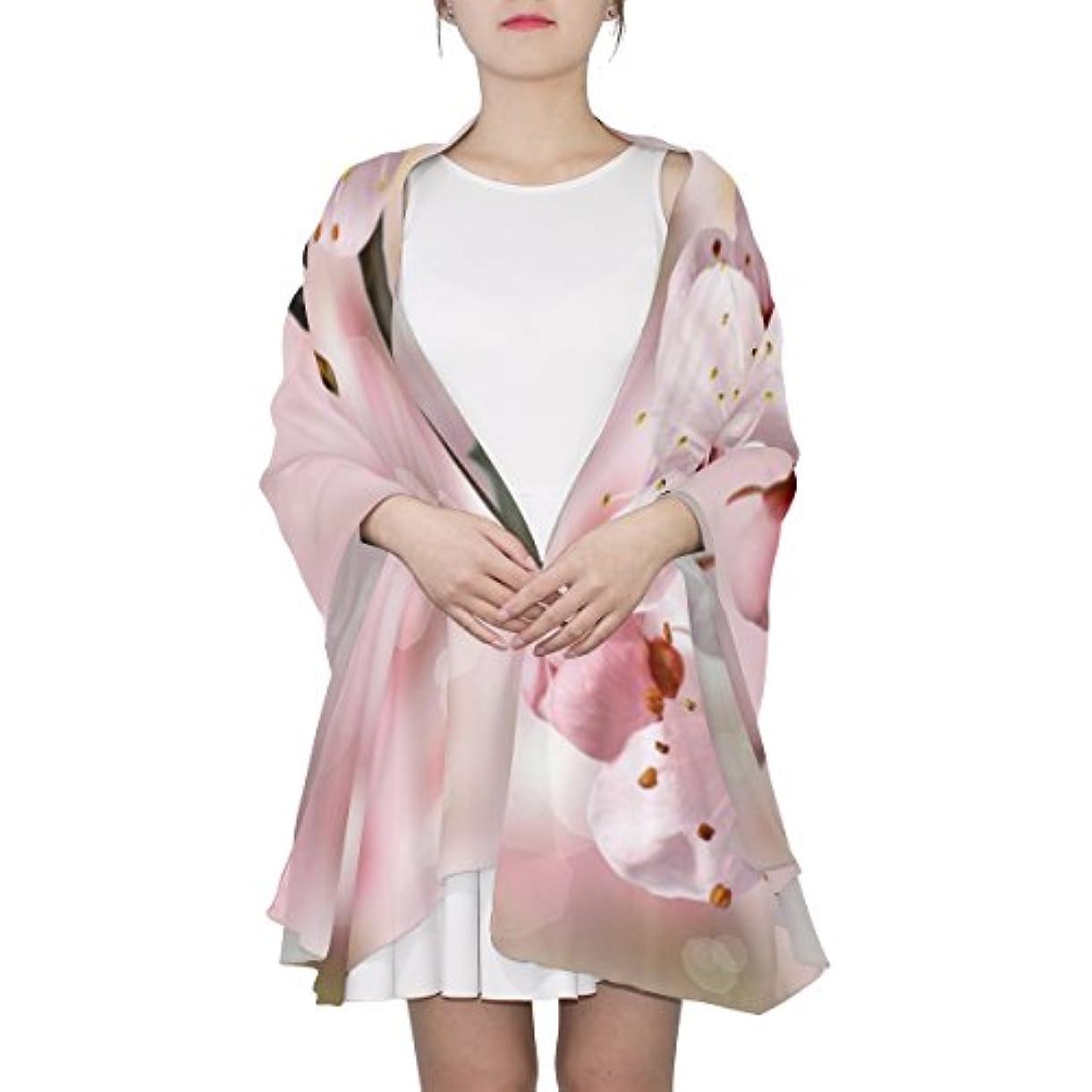 フォアマン上に築きます混乱させるGORIRA(ゴリラ) サクラ 花柄 ピンク ロング 人気 おしゃれ 個性 スカーフ ストール バンダナ 肌触り抜群 薄手 プレゼント レディース やわらかい シフォン 絹のスカーフ 90x180cm