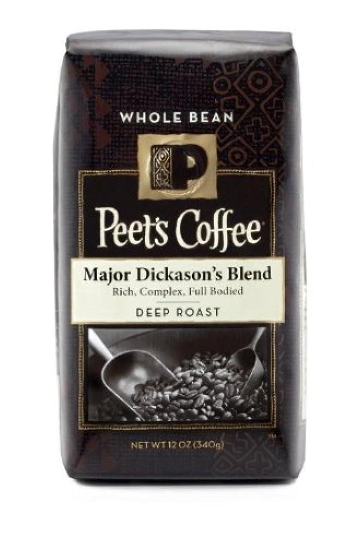 【Whole Bean】 Peet's Coffee Deep Roast, Major Dickason's Blend - 12 oz ピーツ コーヒー メジャーディクソンブレンド 【挽き具合:コーヒー豆のまま】 並行輸入品