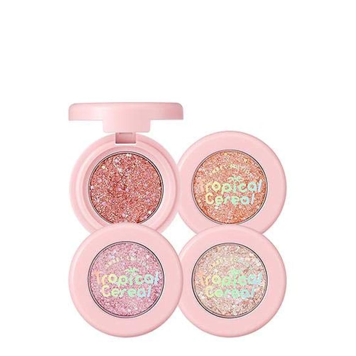 戦術軽食針トニーモリー トロピカル シリアル グリッター フレーク 1.3g / TONYMOLY [Tropical Cereal Edition] Glitter Flake #2. Pink Cranberry [並行輸入品]