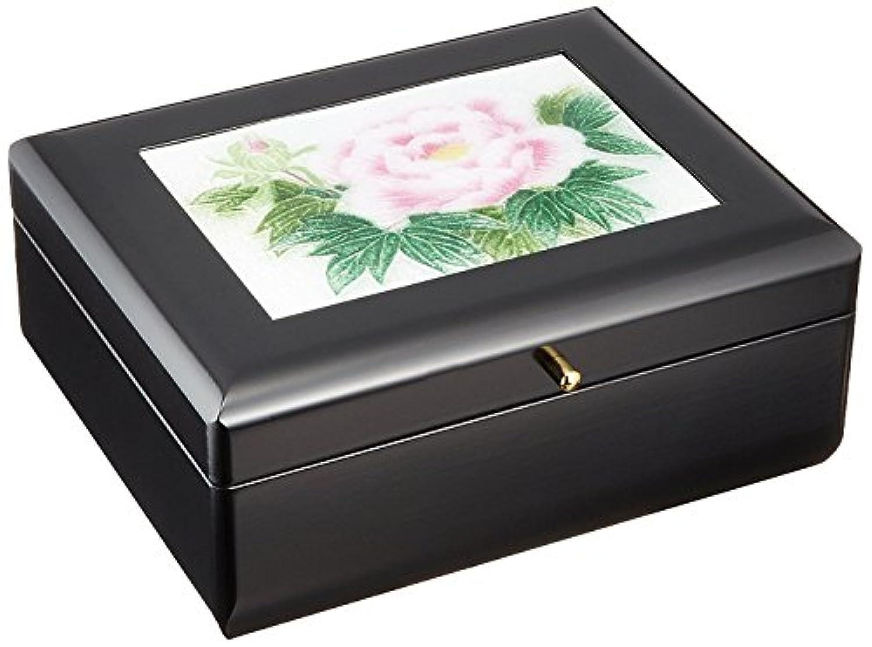 七宝焼 宝石箱(オルゴール付き)牡丹(小) 121-20