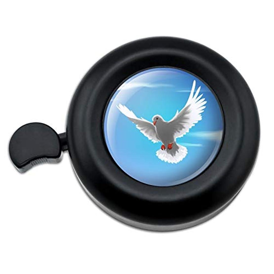 浴室コークス鏡空に飛ぶ鳩の鳥自転車ハンドルバー自転車ベル