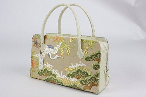 山口美術織物 バッグ 西陣織 正絹 唐織 利休バッグ 大奥袋物 箱付 YGB-29