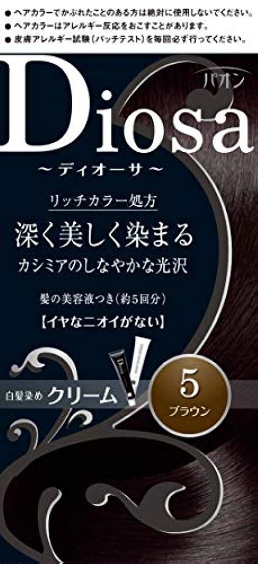 牛雷雨摂氏度パオン ディオーサ クリーム 5 ブラウン 40g+40g 髪の美容液10g