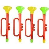 YeahiBaby 4本のノイズメーカーの試合トランペットのおもちゃ誕生日お正月楽しいパーティーのために笛キッズ(ランダムカラー)