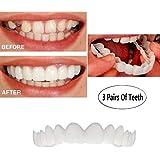柔らかい化粧品の歯入れ歯のための快適な即刻の笑顔の3組の歯の上の化粧のベニヤ(上+下),3upperteeth+lowerteeth