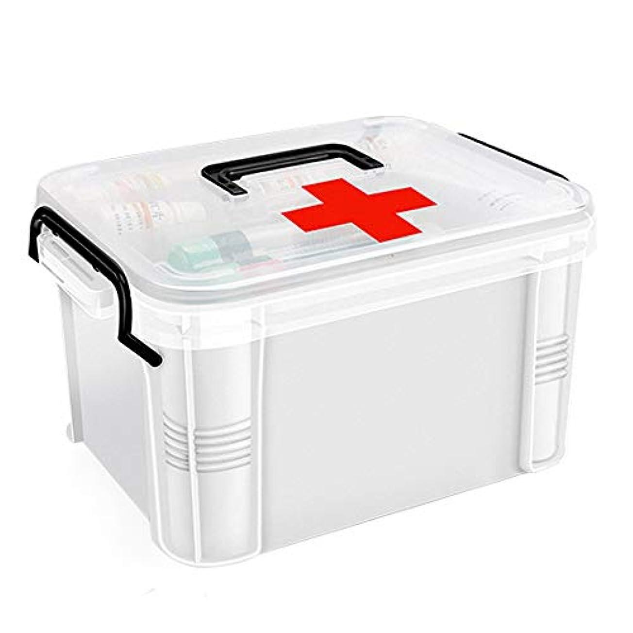 肩をすくめる実験コンテンツYD 救急箱 医療用ボックス - ポリエチレン素材、軽くて湿気が少なく、防塵性があり、厚くて丈夫で掃除が簡単多機能二重層大容量、家庭用二重層医療用ボックス救急医療用ボックス健康ボックス子供用小型医療ボックス - 2サイズオプション /& (サイズ さいず : 20.5*16*12.5cm)