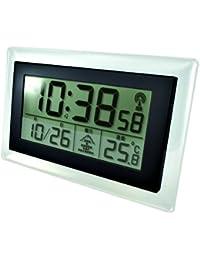 Smartek (スマーテック) 置き時計 目覚まし時計 兼用 ML-466 電波時計 温度表示 Matt Black マットブラック ML-466-MBK