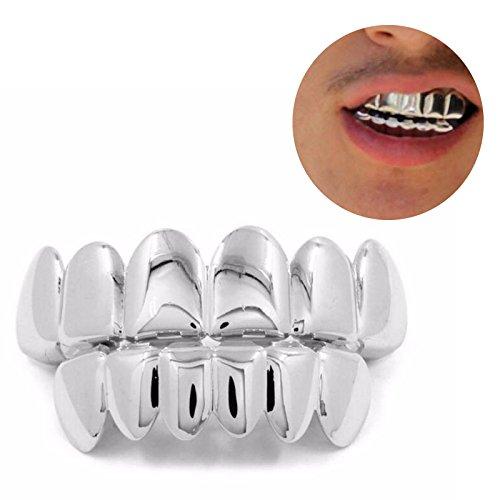 [해외]실버 치아 (상하) 실버 넣기 치아 差し? 코스프레 재미 할로윈 의상 변장 액세서리 선물 파티/Silver tooth (up and down) Silver attachment Tooth false tooth cosplay Funny Halloween Masquerade Disguise Accessory Present Party
