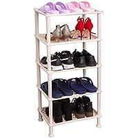家庭用多層シンプルなプラスチック製の靴のラック寮の靴の収納ラック現代的なミニマリズムの戸口スペースシューズキャビネット