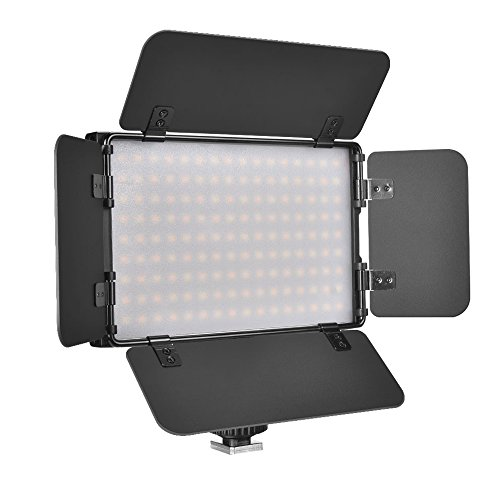 UTEBIT ビデオライト LED 1500lm ビデオ照明 撮影ライト アルミ製 バイカラー 調光 撮影 照明 カメラ ライト シュー 付き NP-F550等対応 PT-15B II 定常光