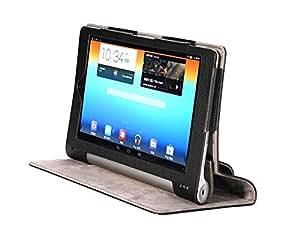 【riseオリジナル】YOGA 8 4点セット 【保護フィルム2枚付】マグネット開閉式 【Lenovo YOGA TABLET 8】専用 カバー ケース タッチペン付き (yoga8ケース4点セット)