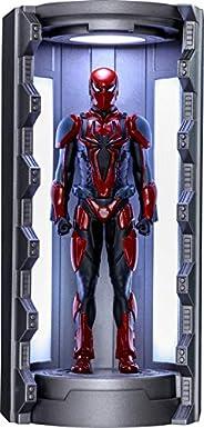 【ビデオゲーム・マスターピース COMPACT】『Marvel's Spider-Man』ミニチュア・フィギュア シリーズ1 スパイダーマン(スパイダー・アーマー MKIIIスーツ/スパイダースーツ格納庫付き)
