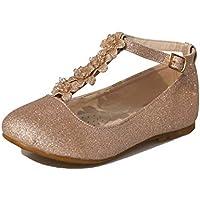 Little Girls Dress Ballet Girls Little Kid/Big Kid T-Strap Mary Jane Bow Flat Shoes