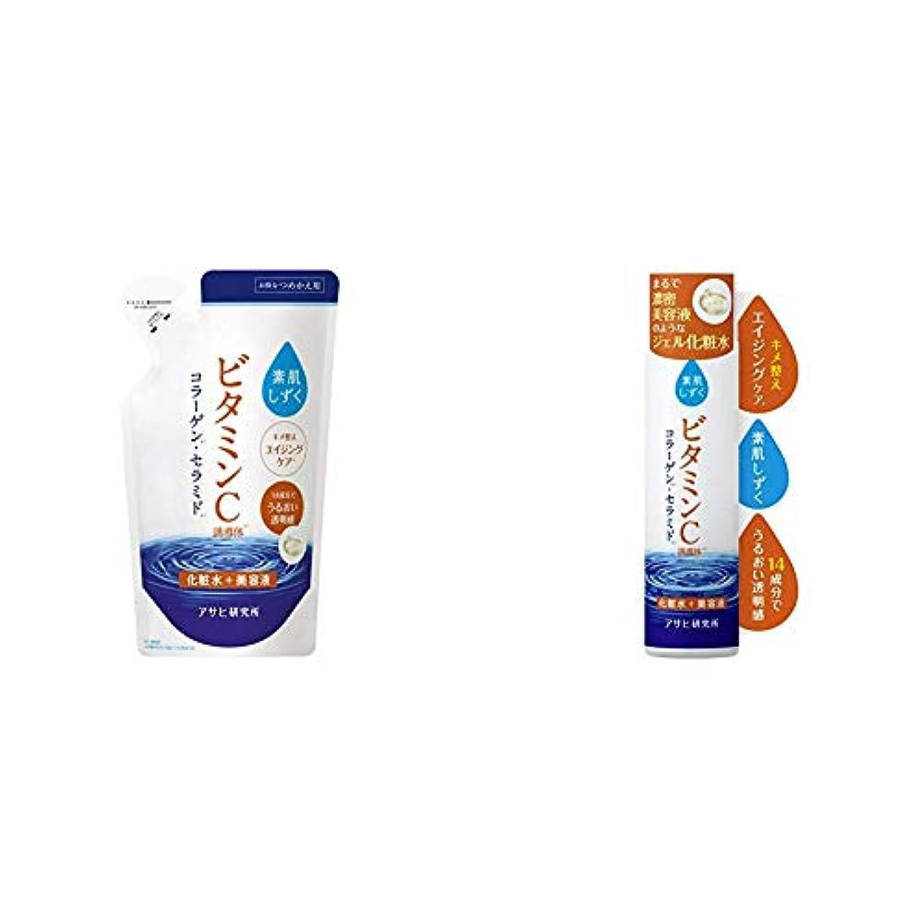出発する摩擦衝撃素肌しずく ビタミンC化粧水(詰替) 180ml & ビタミンC化粧水(本体) 200ml