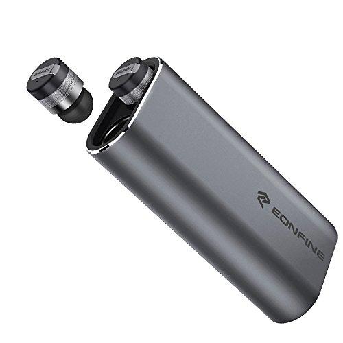 完全ワイヤレス Bluetooth イヤホン Eonfine Bluetooth ヘッドセット 左右独立型 モバイルバッテリー付き Bluetooth 4.1 ブルートゥース イヤホン 片耳 両耳 対応 ステレオヘッドセット スポーツイヤホン 高音質 超小型 超軽量 マイク内蔵 ハンズフリー通話 ブルートゥースヘッドセット