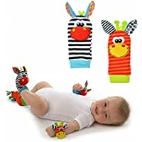 Usport Lovely Wristand Rattles Toy Infant Baby Foot Bell Sock