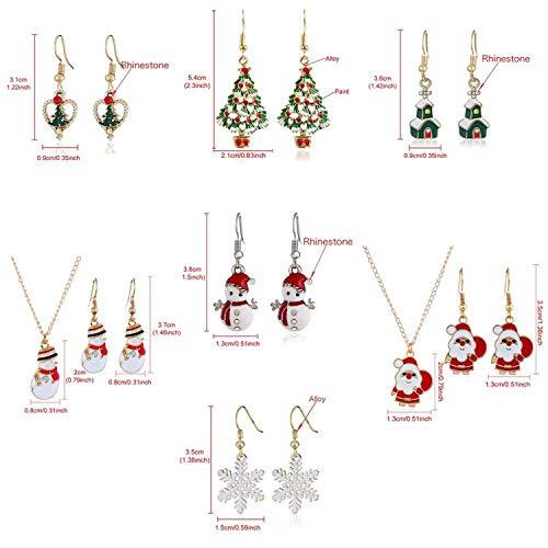 『イヤリングネックレスクリスマスインテリアサンタクロースイヤードロップペンダントクリスマスインテリア用-87-9-』の1枚目の画像