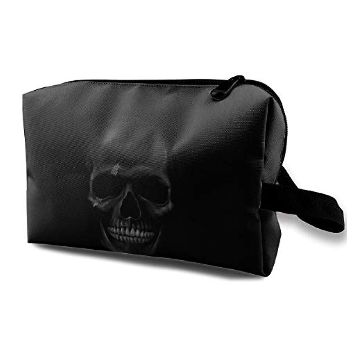 天のバーターなかなかCool And Horror Design Dark Skull 収納ポーチ 化粧ポーチ 大容量 軽量 耐久性 ハンドル付持ち運び便利。入れ 自宅?出張?旅行?アウトドア撮影などに対応。メンズ レディース トラベルグッズ