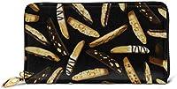 チョコバナナ 長財布 本革 カード ケース メンズ レディース レザー ウォレット サイフ 小銭入れ 収納 大容量 ジッパー財布