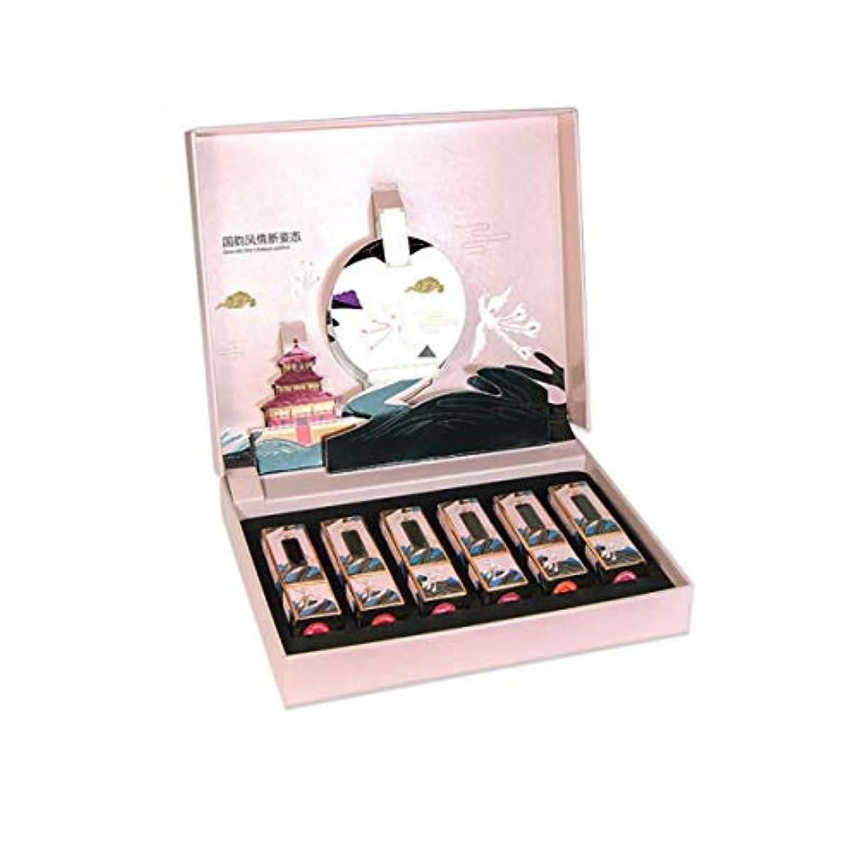 サリー香り名声BIDLS 中国風の口紅ギフト 贈答品 (Color : F)