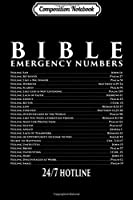 Composition Notebook: Bible Emergency Hotline Numbers - Cool Christian s Journal/Notebook Blank Lined Ruled 6x9 100 Pages