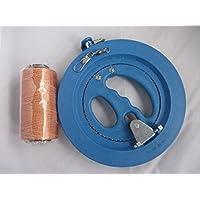 凧、カイト用、糸巻き(リール回転式直径18cm)と強力たこ糸(200m)とスイベル(63mm) 3点セット 水糸にも