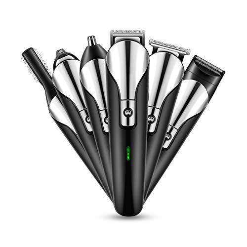 Smapro バリカン ヒゲトリマー USB充電 コードレス 12in1 ヘアカッター 家庭用 業務用 水洗い 一台6役【改良版】