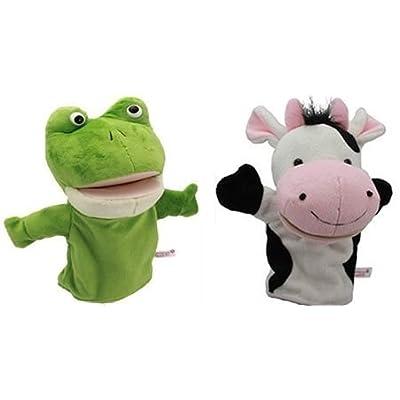 パペット 人形 劇 カエル 牛 2個 セット 蛙 うし